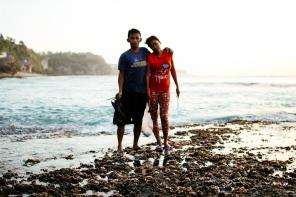 """We pick 6 bags [of sea urchins] a day"" (Uluwatu, Bali)"