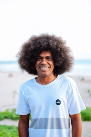 """How long have you been growing your hair for?"" ""Around 4 years... it's good for the marketing."" (Kuta, Bali)"