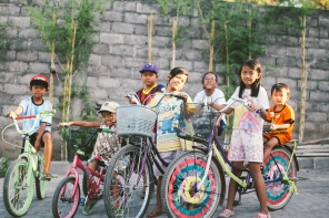 """We are the 'Yogya Bikes'... every Monday we ride our bikes to school, we just like riding... and fishing"" (Yogyakarta, Java)"