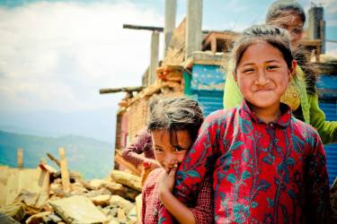 One of my favorite photos of the last week. These girls gave me something to smile about. Melamchour, Sindhupalchowk. 1 May 2015.