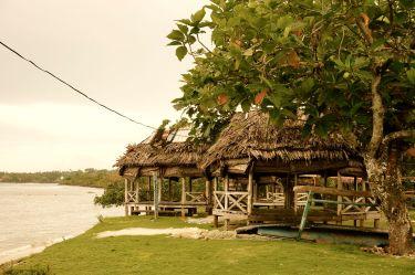 Samoan fale by the beach on the island of Savai'i