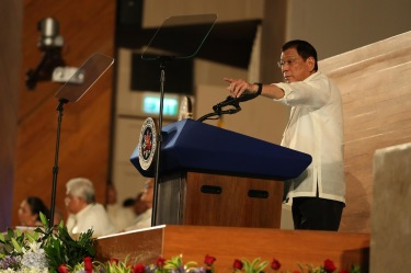Duterte delivering his first State of the Nation address on July 25th 2016. Image sourced under a creative commons license from Wikipedia